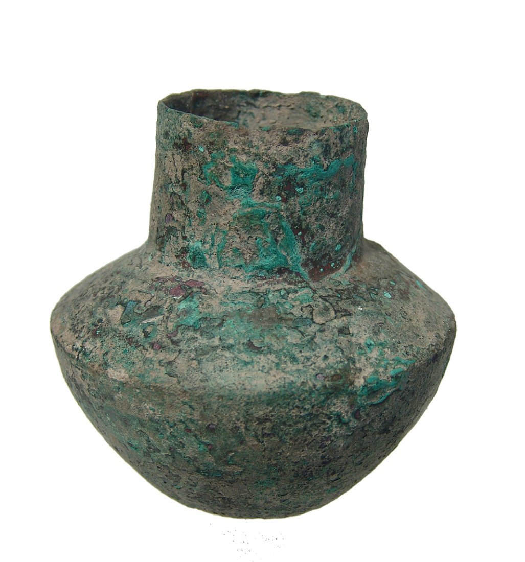 A Near Eastern bronze jar