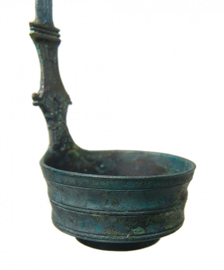 A choice Roman decorated bronze ladle - 2