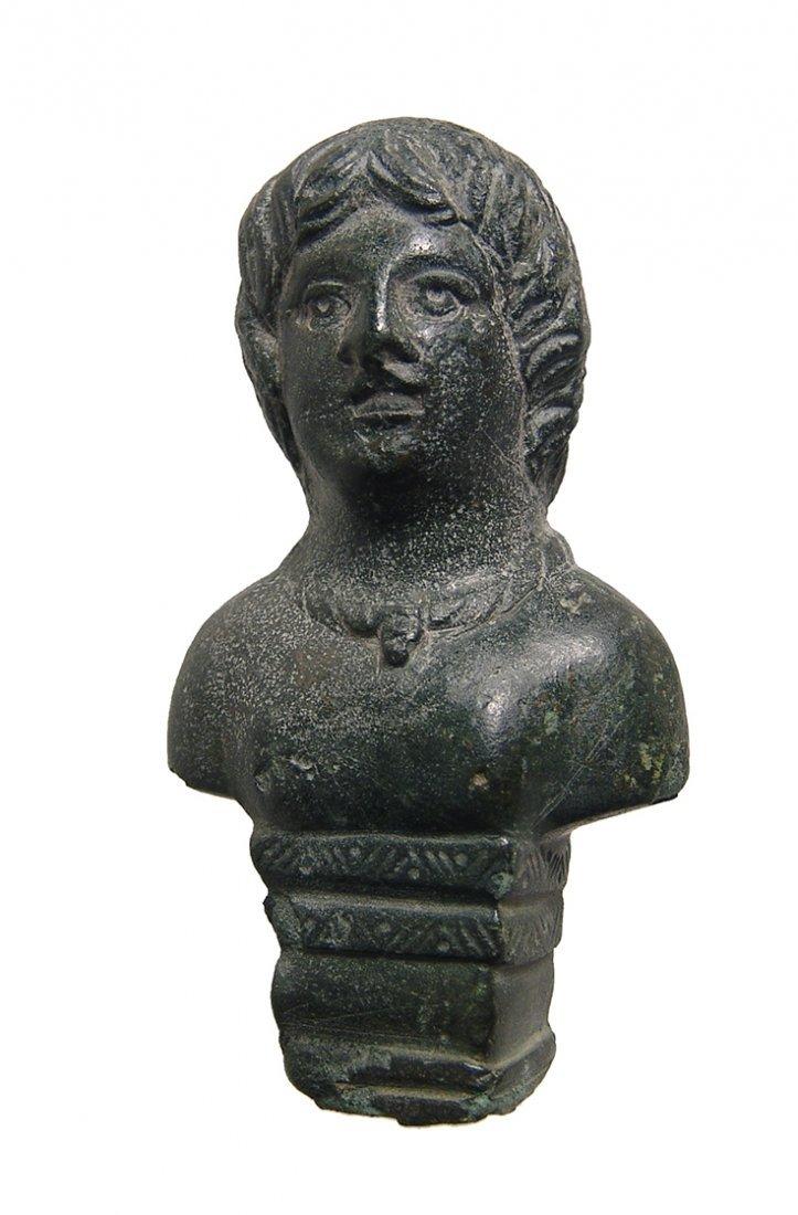 A nice Roman bronze chariot mount