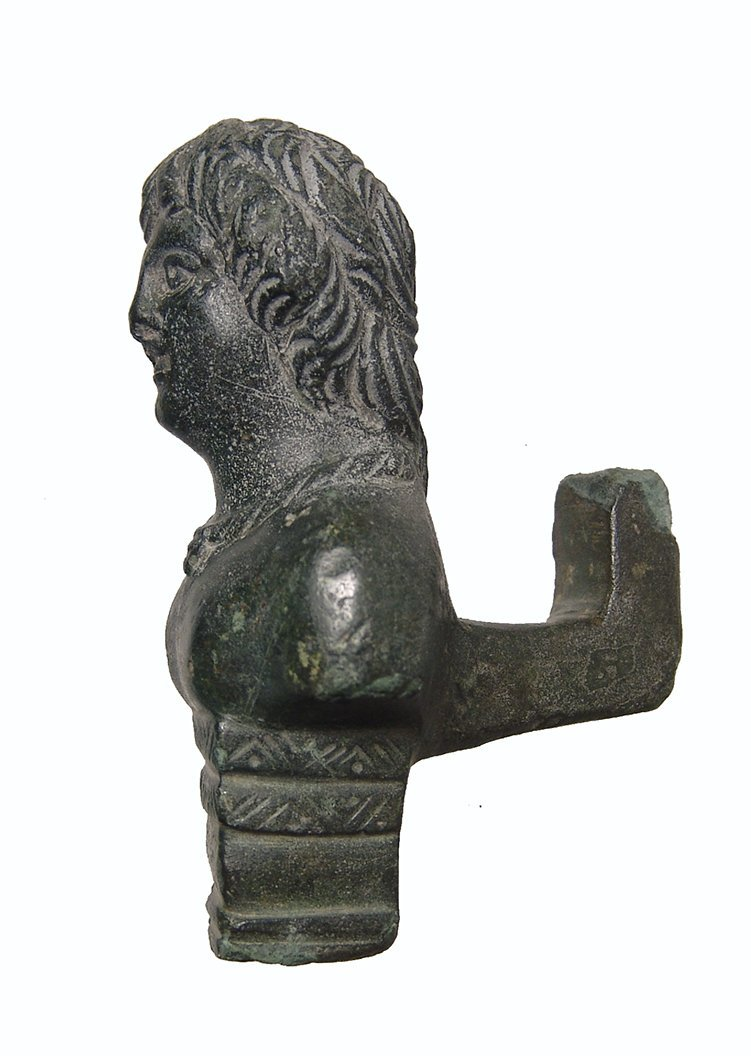 A nice Roman bronze chariot mount - 2