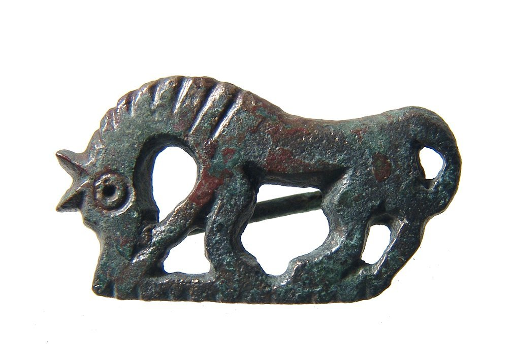 A nice Roman zoomorphic brooch in horse form