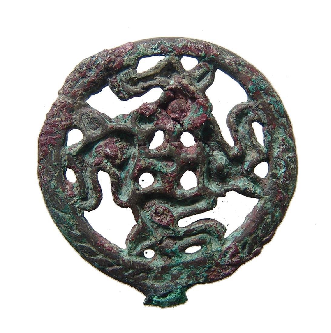 A charming Seljuk bronze finial, c. 12th - 13th Century - 2