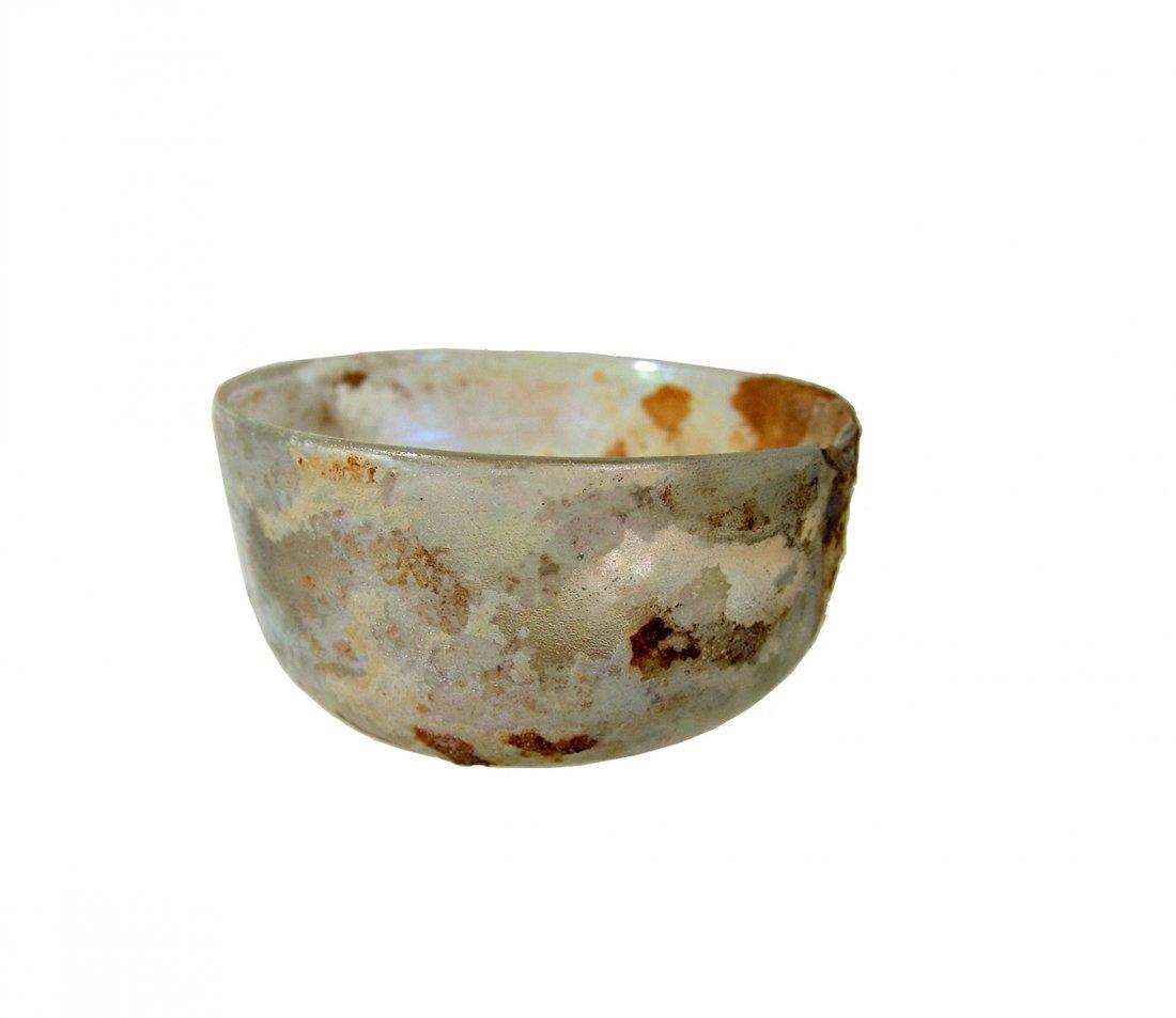 A nice Roman near colorless glass bowl