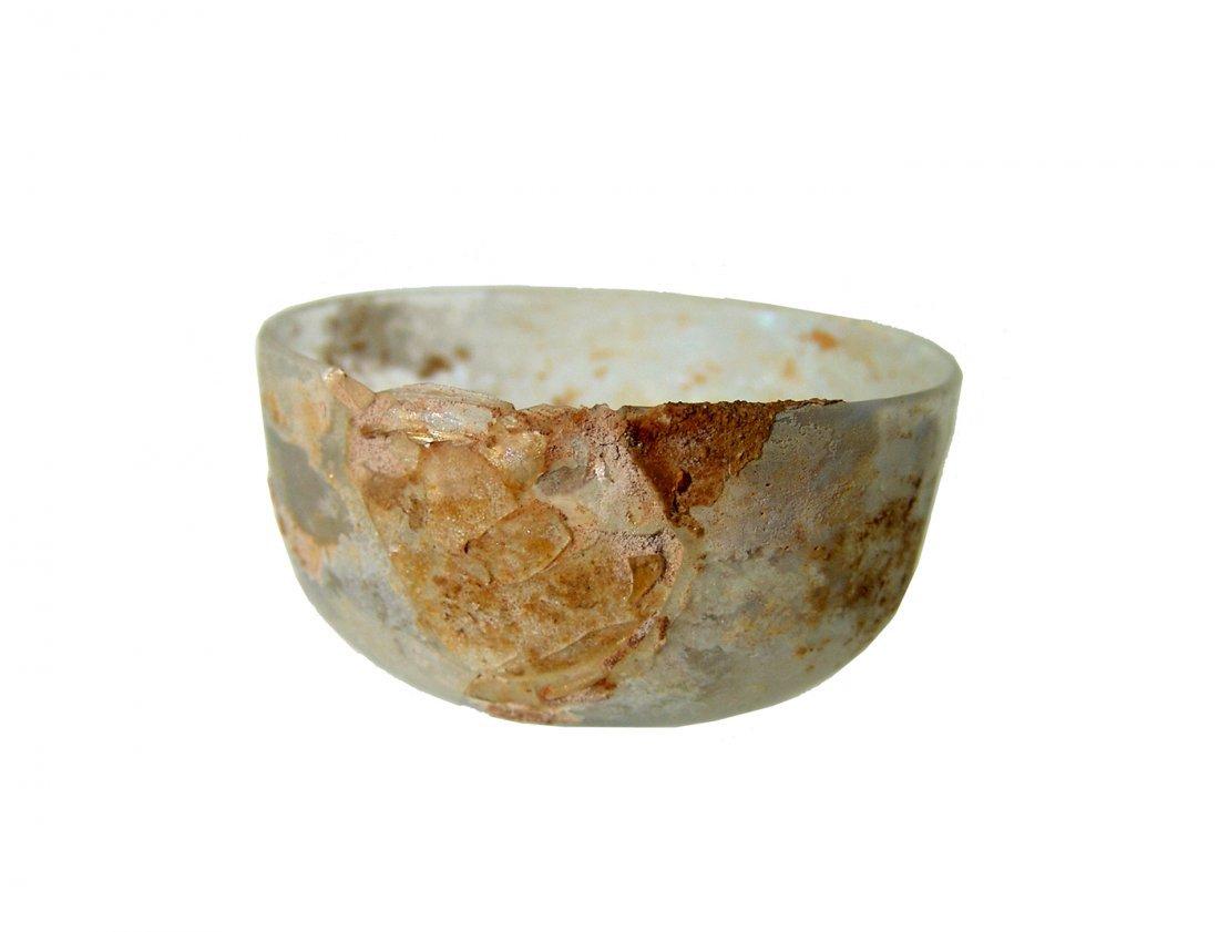 A nice Roman near colorless glass bowl - 2