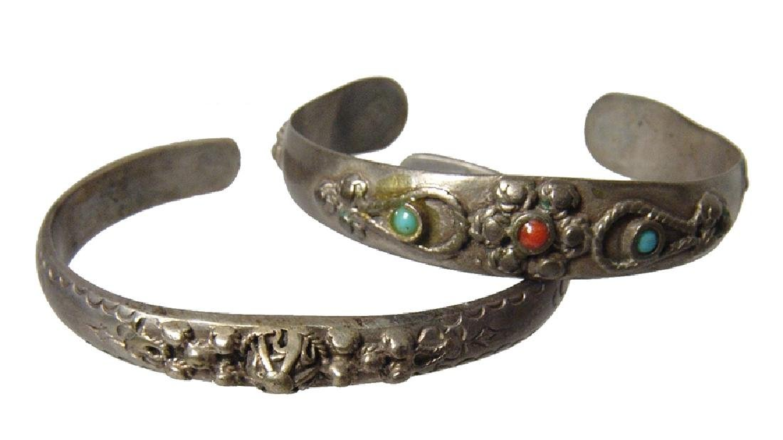 6 silver Bedouin bracelets from the Holy Land - 3
