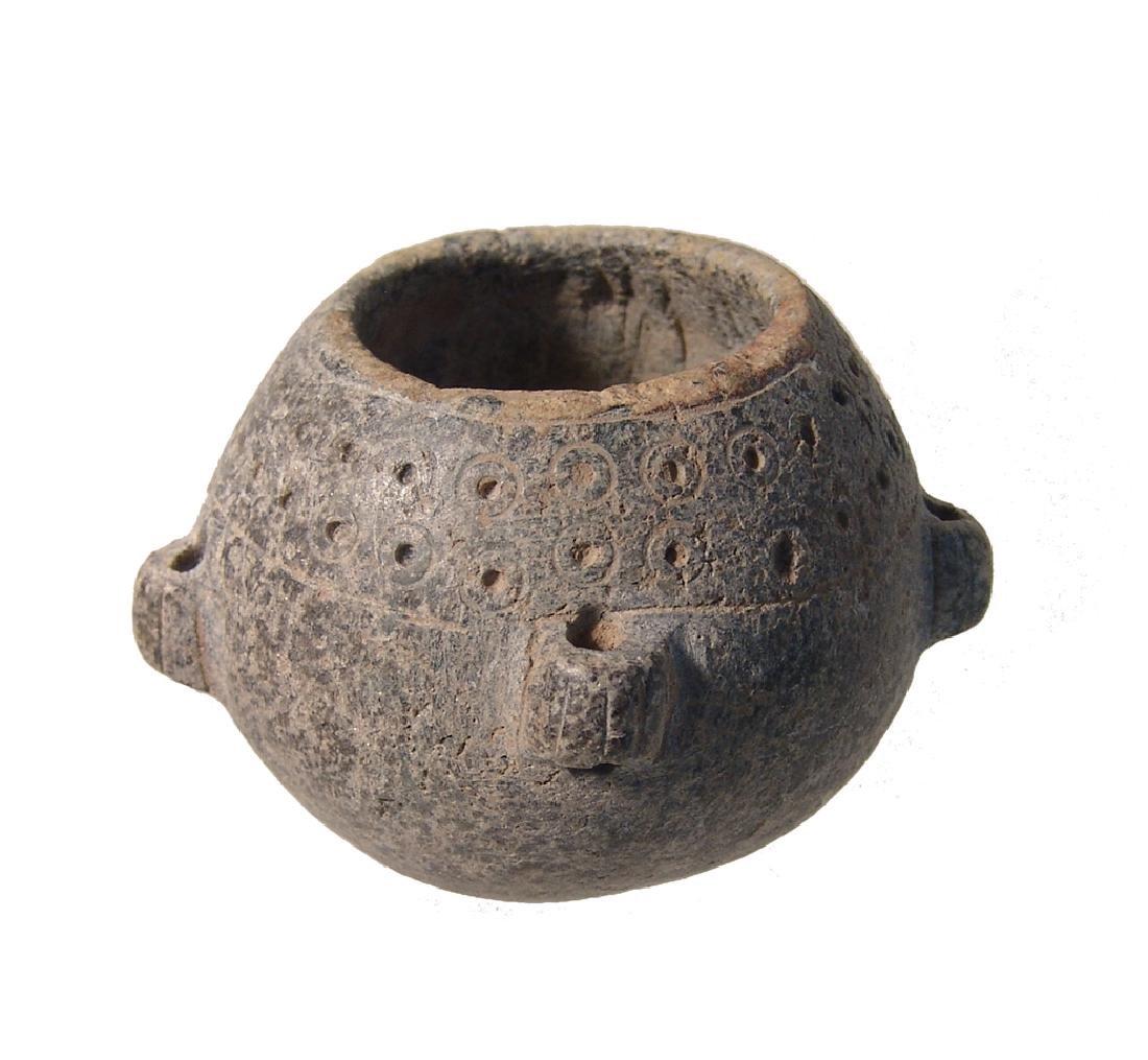 A circular Bactrian stone hanging lamp - 2