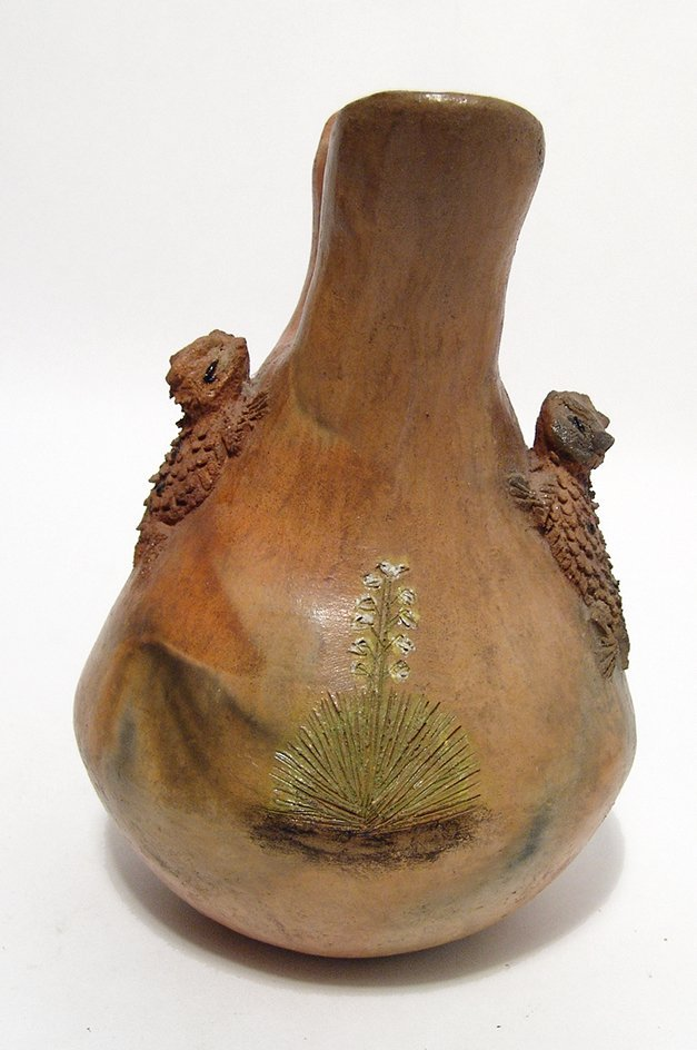 A Silas Claw Wedding Vase with horned toads - 2