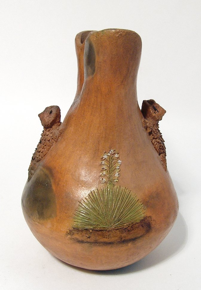 A Silas Claw Wedding Vase with horned toads - 4