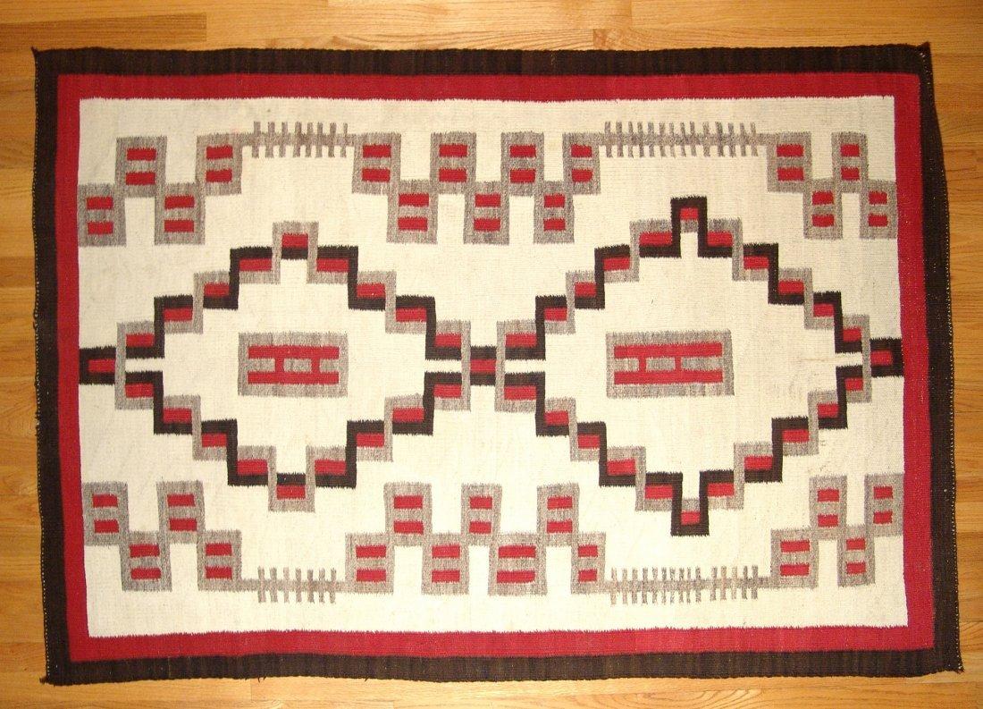 A large and beautiful Ganado Navajo rug