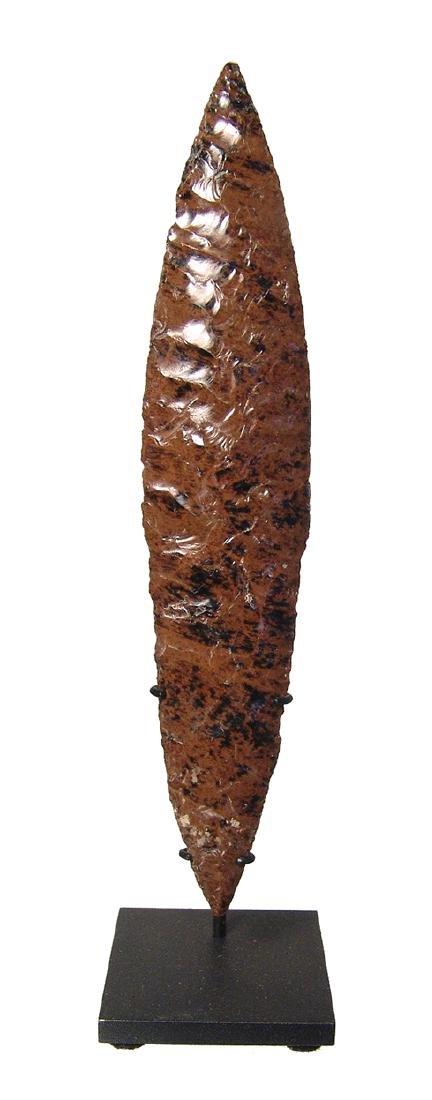 A beautiful Colima mahogany obsidian blade