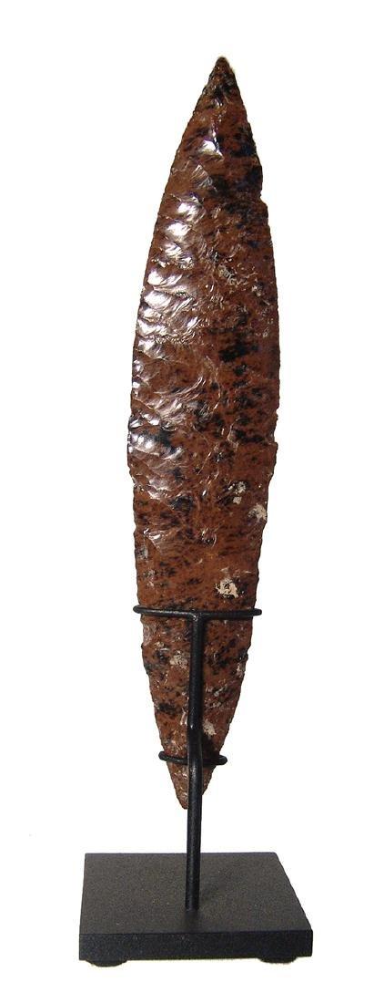 A beautiful Colima mahogany obsidian blade - 2
