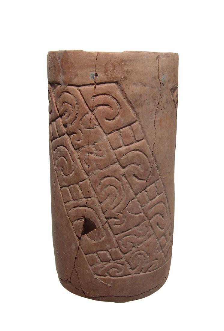 A nicely carved Maya cylinder from El Salvador - 3