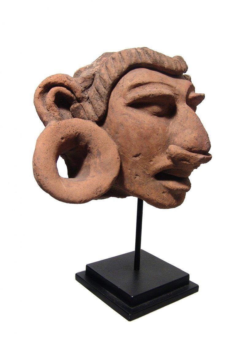 A gorgeous Mayan ceramic head fragment