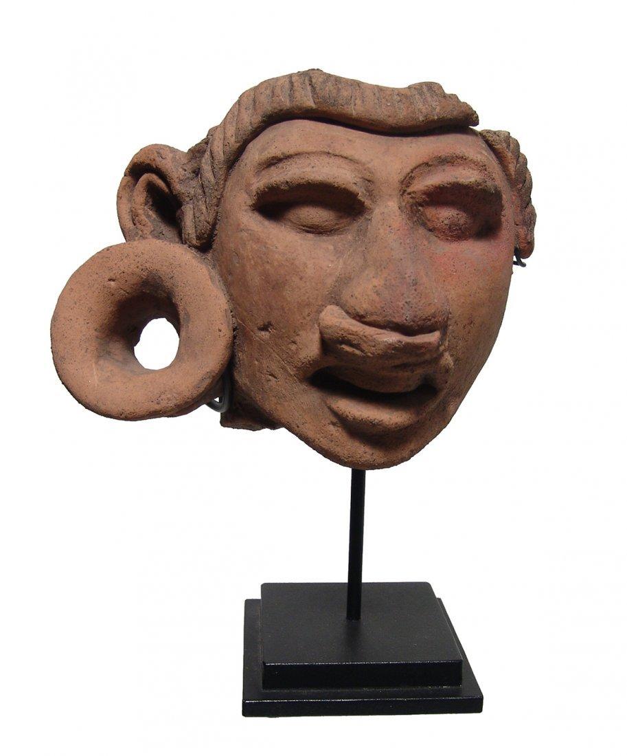A gorgeous Mayan ceramic head fragment - 2