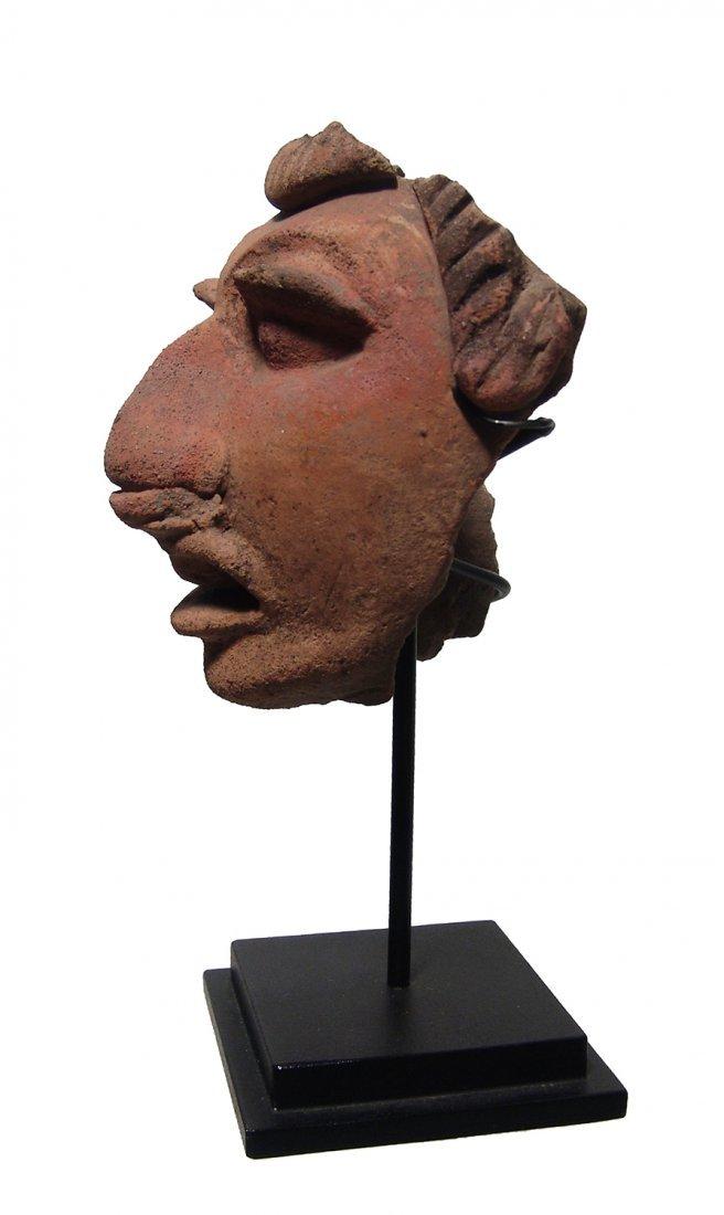 A gorgeous Mayan ceramic head fragment - 3