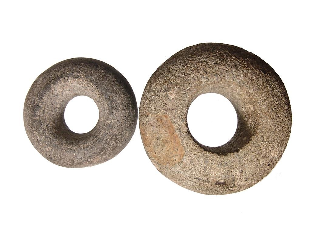 A pair of Nicoya stone mace heads, Costa Rica - 2