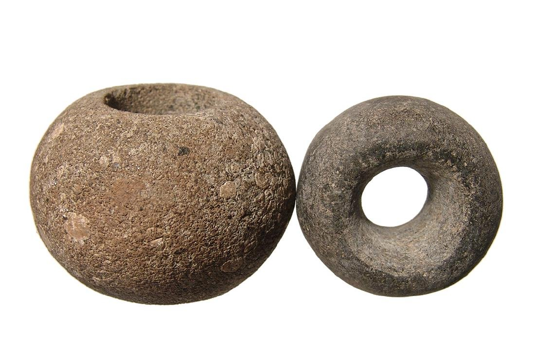 A pair of Nicoya stone mace heads, Costa Rica - 3