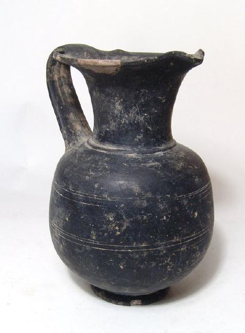 A nice Etruscan bucchero oinochoe, Italic - 2