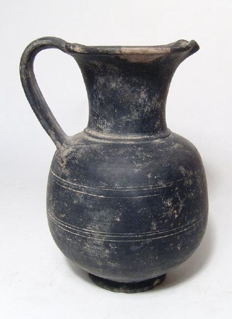 A nice Etruscan bucchero oinochoe, Italic - 3