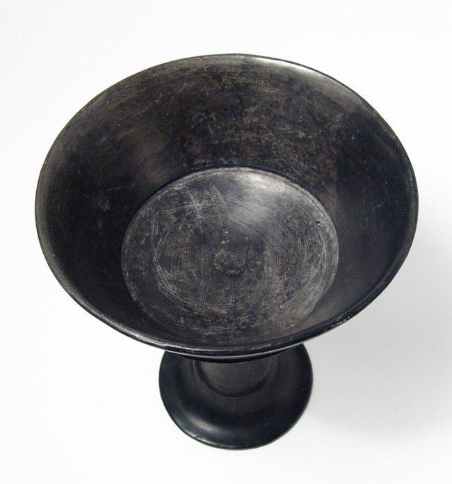 A lovely Etruscan Bucchero chalice - 5