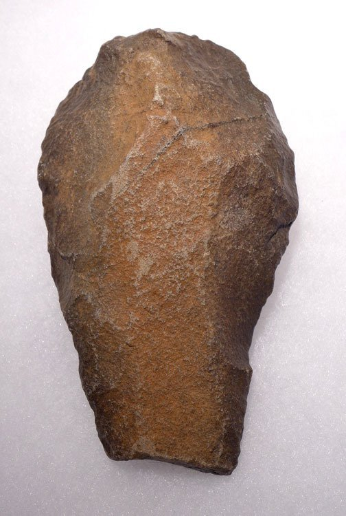 Fantastic Acheulian stone hand axe  with desert varnish - 3