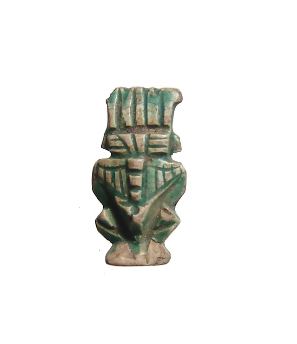 An attractive steatite amulet of Bes