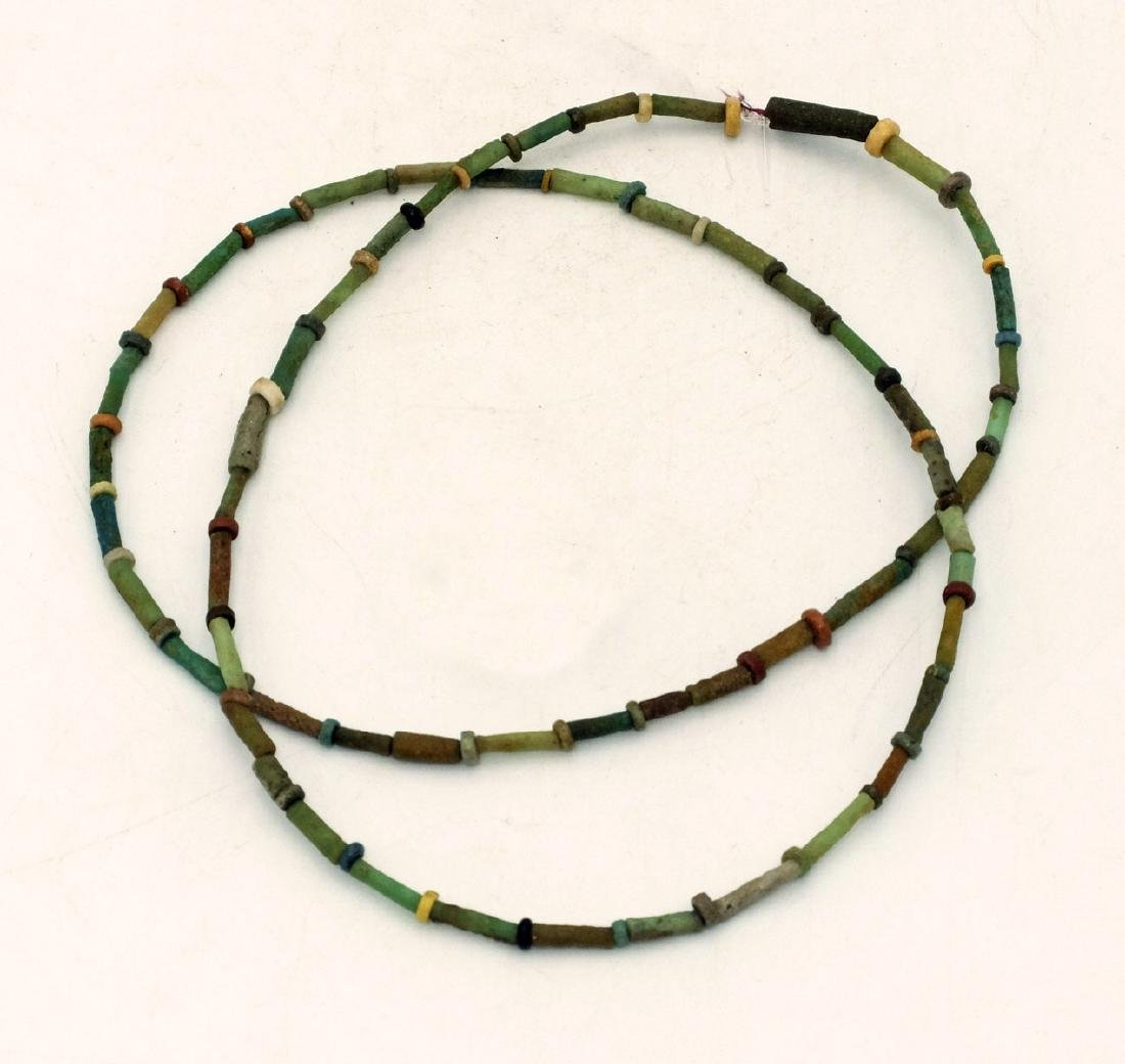 A lovely Egyptian Late Period faience bead necklace