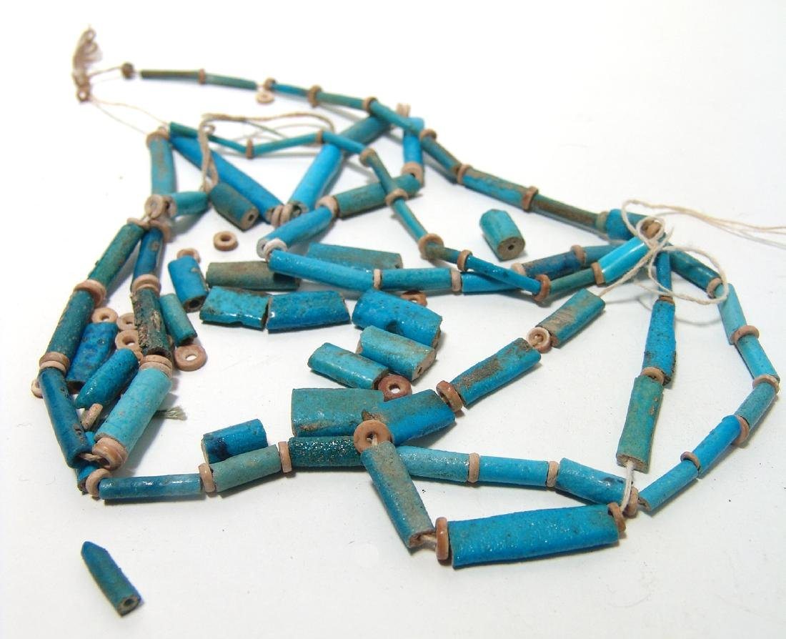 A group of Egyptian faience beads