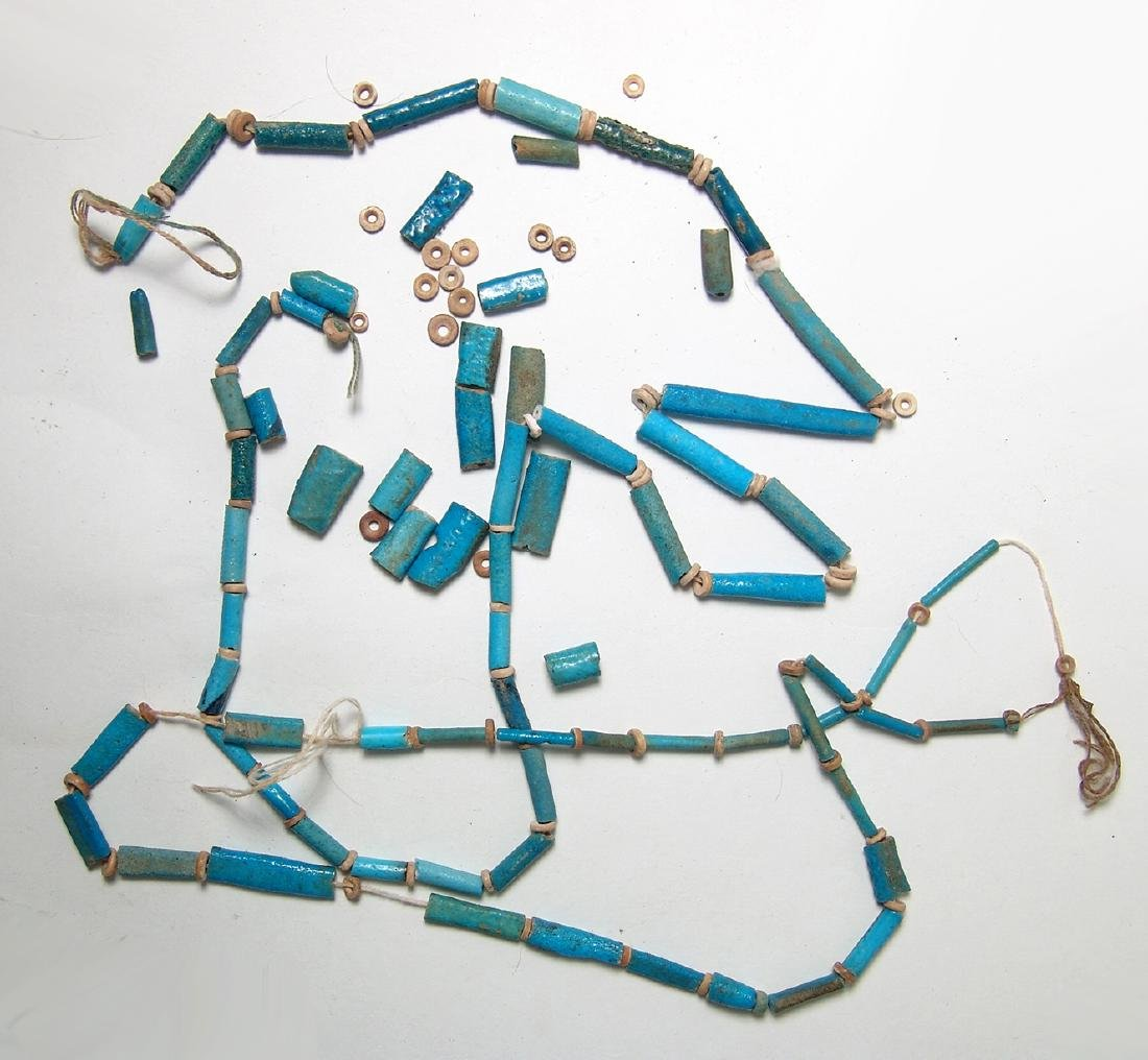 A group of Egyptian faience beads - 2