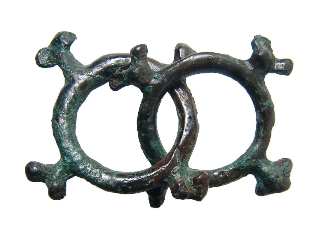 A pair of Celtic knobbed ring currency