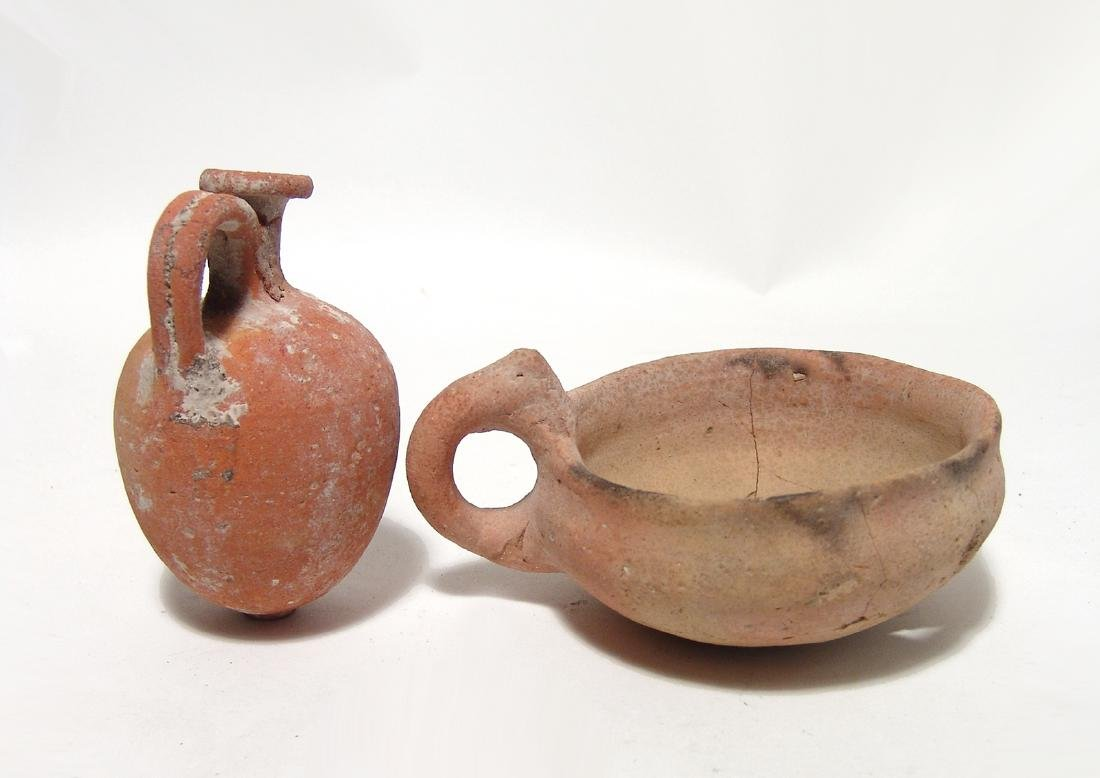 Pair of Bronze Age ceramic vessels, Holy Land - 2