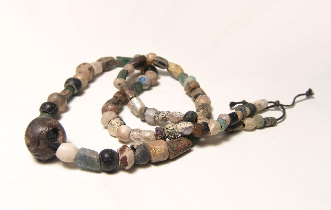 Necklace comprised mostly of Roman glass beads