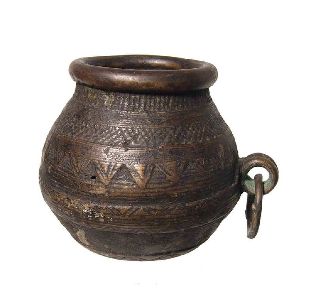 An antique brass/bronze jar, Near East