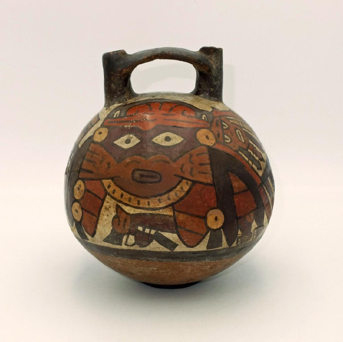 A fine Nazca polychrome vessel w/ the Spotted Cat