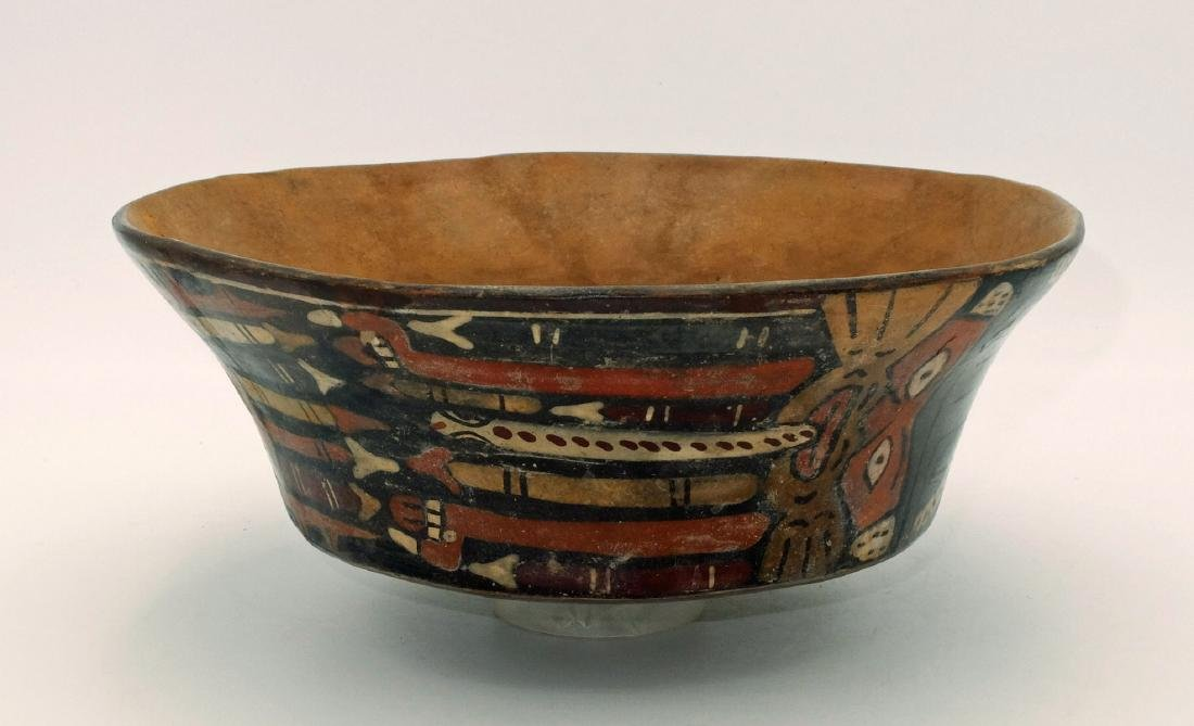 A large Nazca bowl depicting the Spotted Cat - 3