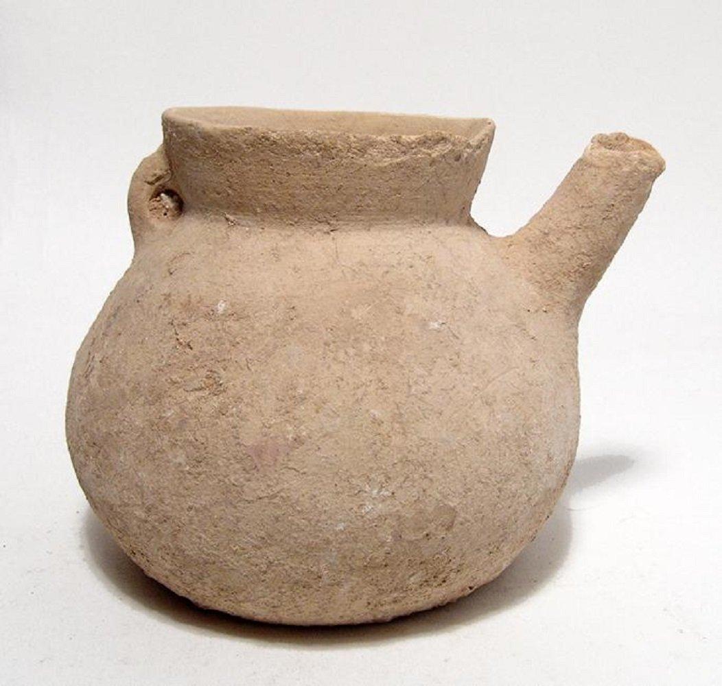 A Bronze Age terracotta spouted jar - 2