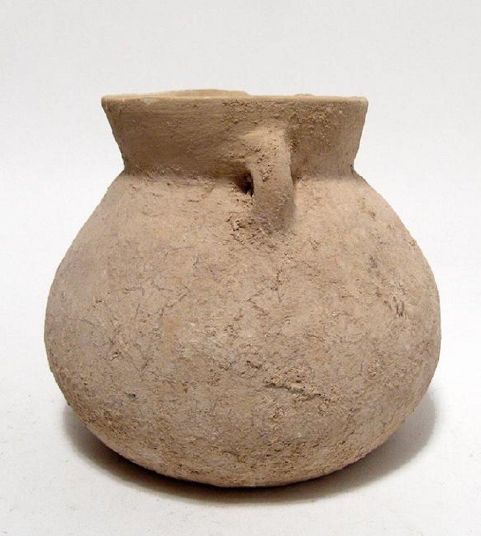 A Bronze Age terracotta spouted jar - 3