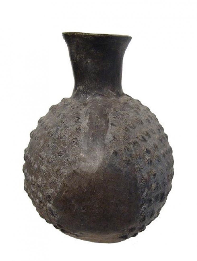 Chimu black-ware vessel in the form of a cherimoya - 4