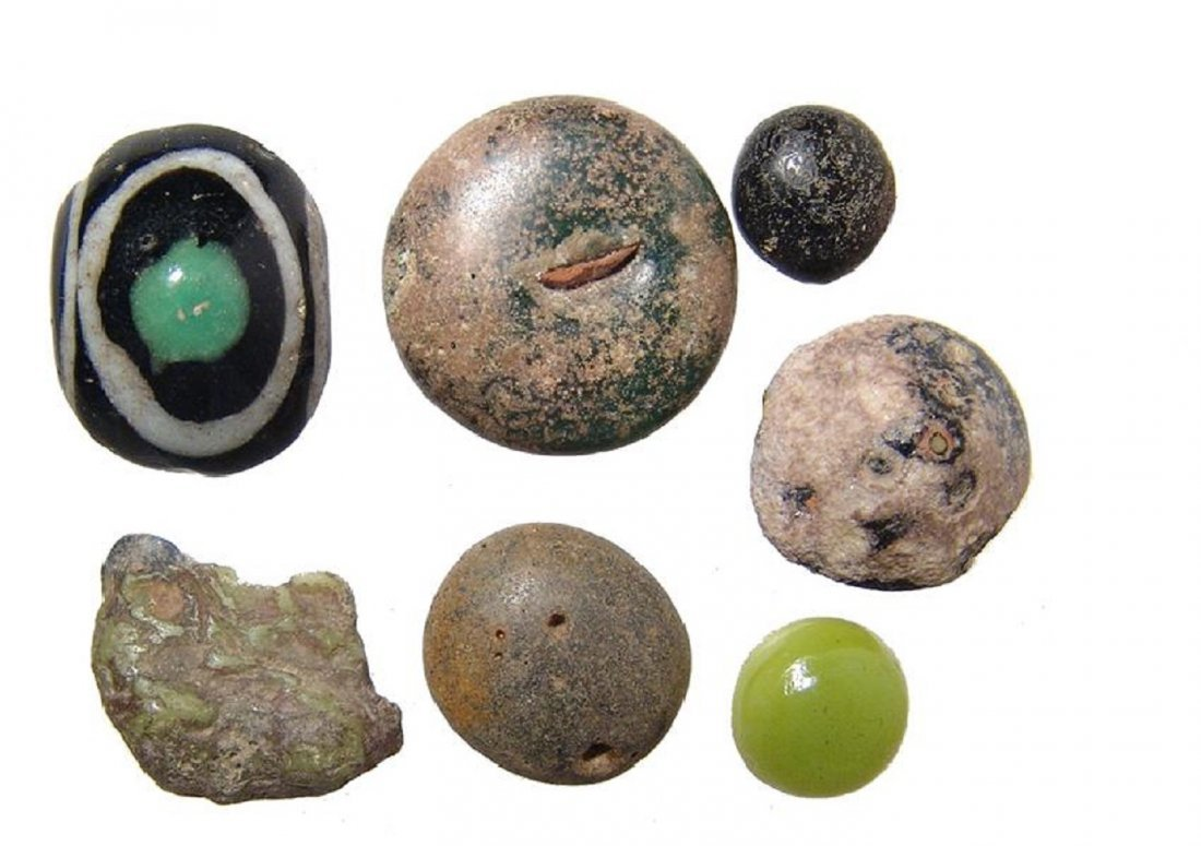 A group of Roman calculi or glass counters