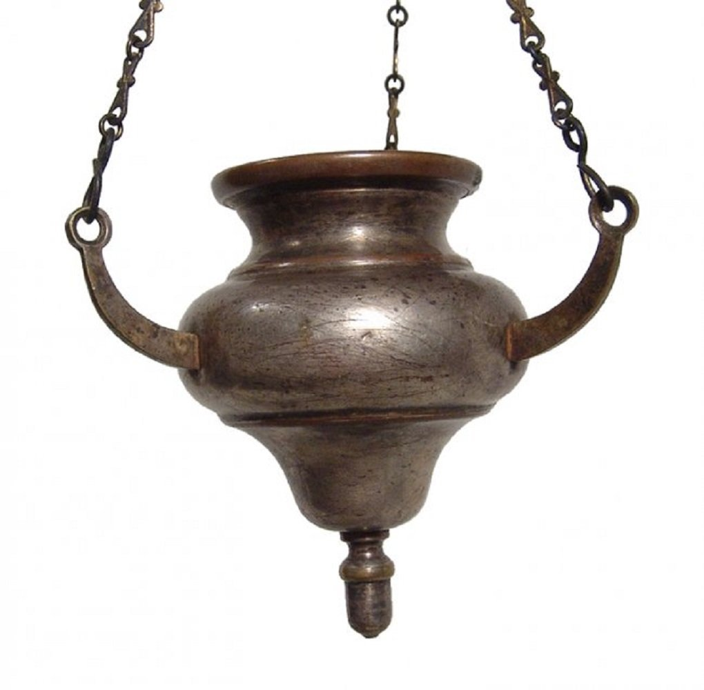 A nice antique hanging Sabbath lamp, Norblin and Co. - 3