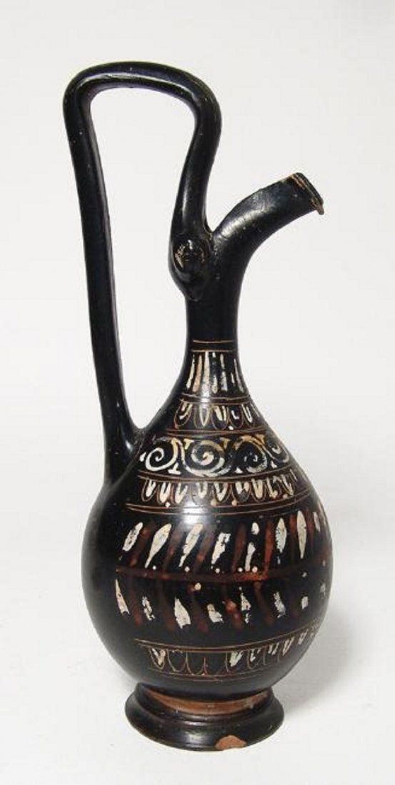 A lovely Greek Gnathian-ware prochus - 2