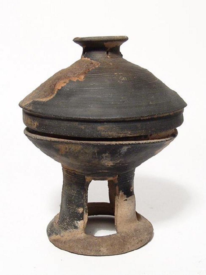A nice Korean stone-ware pedestal bowl, Silla Period - 2
