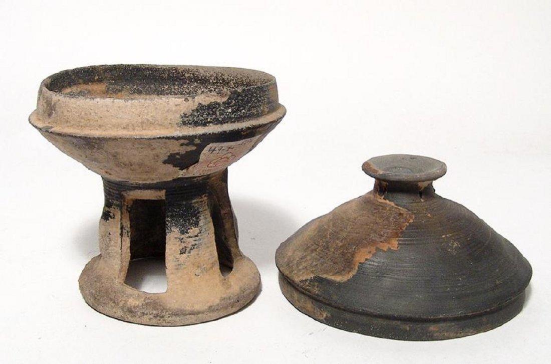 A nice Korean stone-ware pedestal bowl, Silla Period - 4
