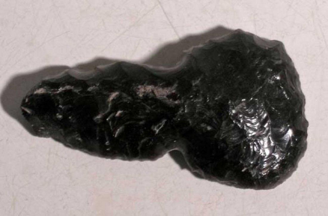 A rare obsidian Aztec eccentric from Mexico