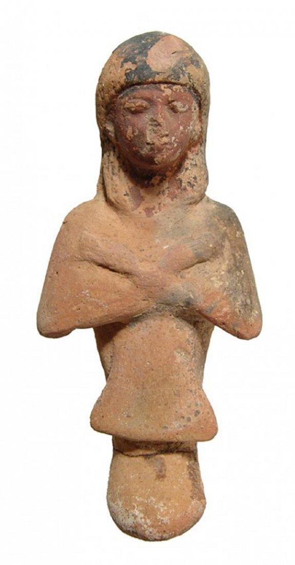 An Egyptian terracotta Reis or overseer ushabti