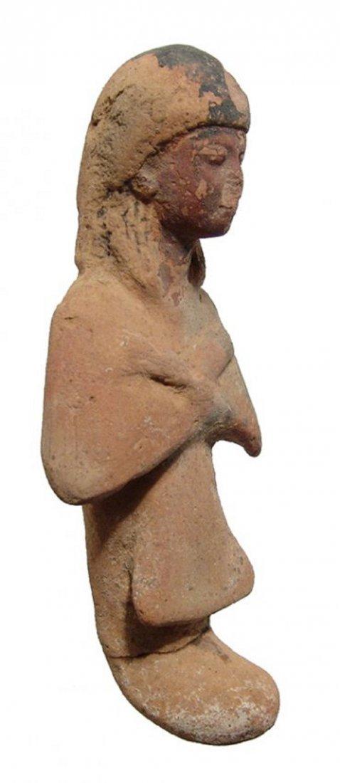 An Egyptian terracotta Reis or overseer ushabti - 2