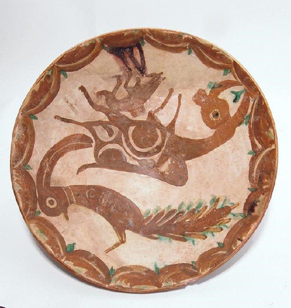 Large and vibrant Nishapur ceramic bowl,12th Century AD