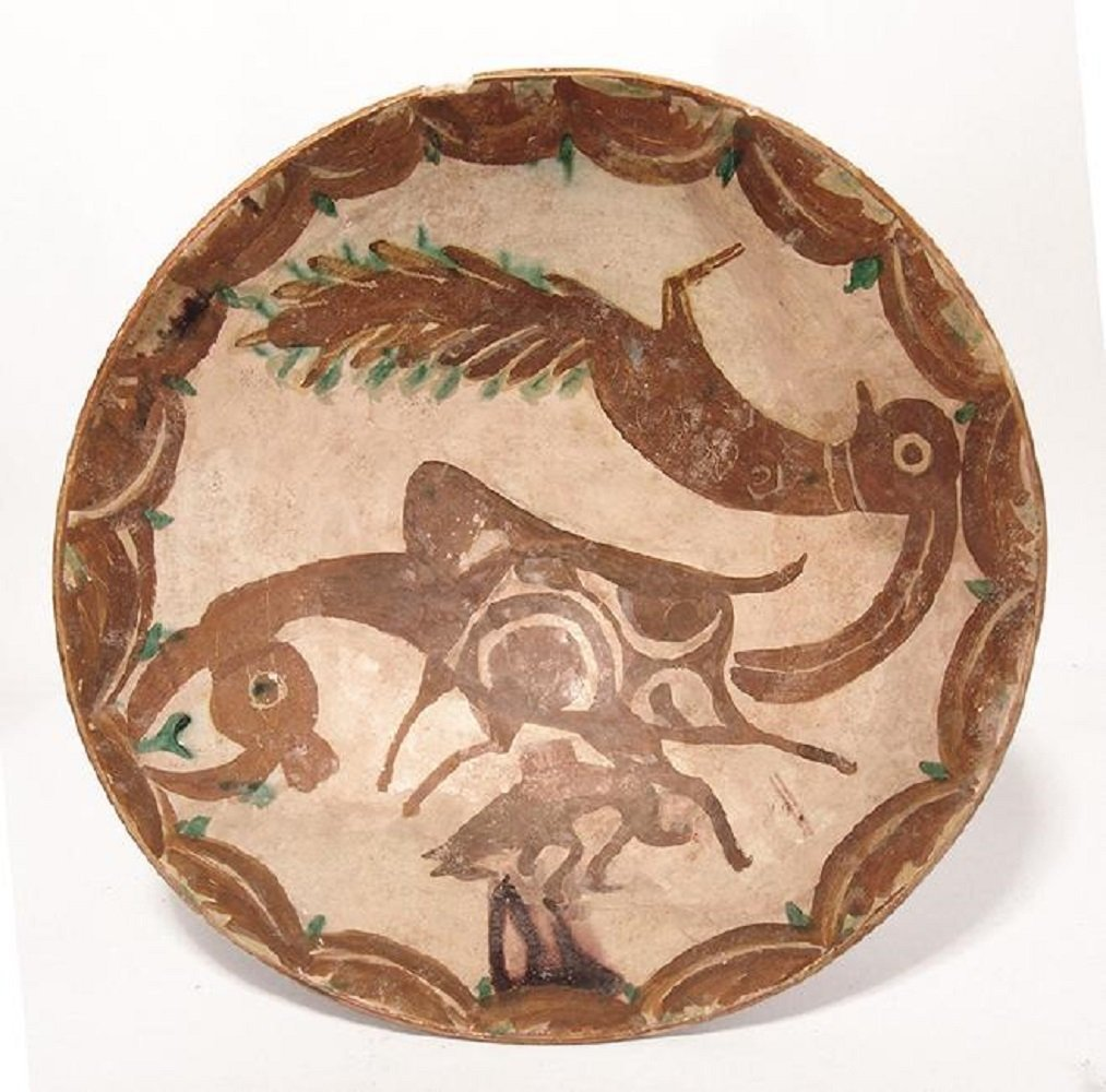 Large and vibrant Nishapur ceramic bowl,12th Century AD - 2