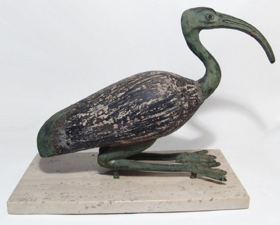 Large Egyptian ibis in ancient style, mid-20th Century