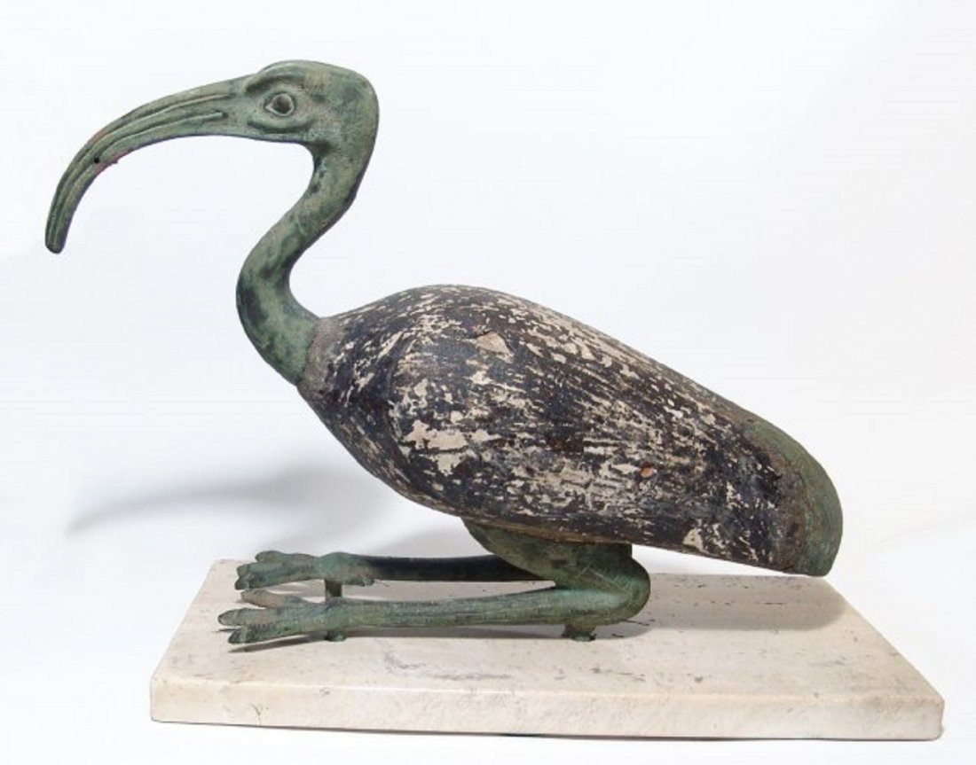 Large Egyptian ibis in ancient style, mid-20th Century - 3
